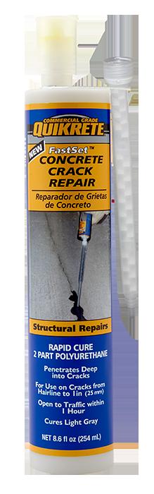 Fastset 174 Concrete Crack Repair Quikrete Cement And