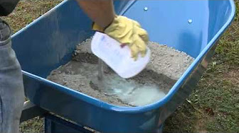 Mixing Concrete - Hand Mixing