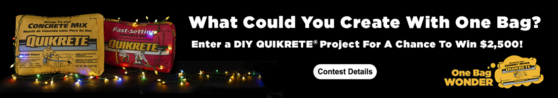 QUIKRETE's One Bag Wonder - Holiday Edition